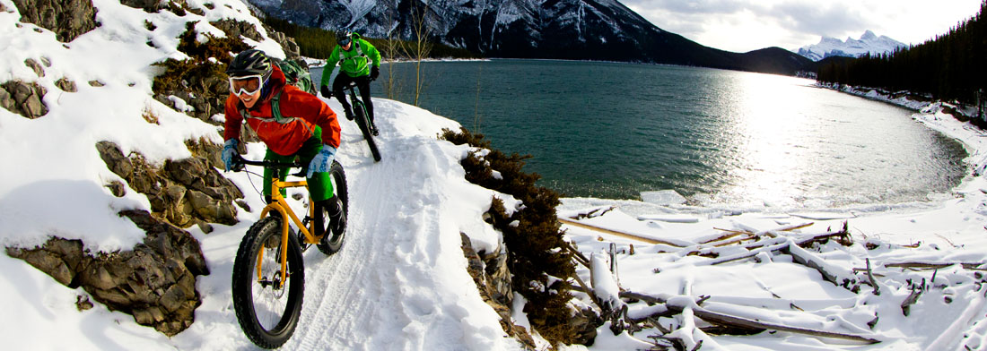 vélo sur la neige